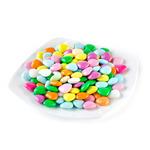 Шоколадные сердечки в разноцветной сахарной глазури