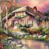 """Алмазная мозаика """"Красочный дом"""""""