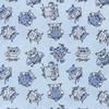 Мерный лоскут поплин 150 см цвет голубой (за 1 м) по 5 м прод