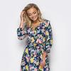 Коктельное платье с цветочным узором, размеры 44-50