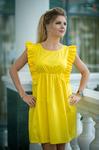 Платье жёлтое 7693