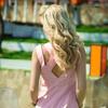 Платье розовое 7678