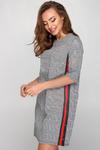 Платье гленчек с кнопками красная полоса