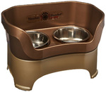 Neater Feeder Deluxe Dog (All Sizes) - The Mess Proof Elevated Bowls No Slip Non Tip Double Diner Stainless Steel Food Dish with Stand