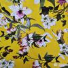 академик трик полотно плотное желтый с цветами (за 0,5 м)