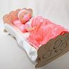 Кроватка для пупсов с постельным набором