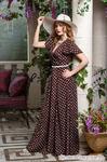 Платье 1173,  коричневый, размер 54 (платье  на высокий рост, от 168 и выше)