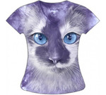 Женская футболка Фиолетовый кот KP088