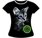 Женская футболка с котенком 761