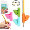 Firesara Left-handed Pencil grips, Original Butterfly Pencil Holder Correction Writing Aid Grip for Kids Handwriting Special Needs Preschoolers Children Adult Lefties Assorted Colors (4PCS)