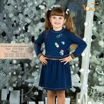 Комплект для девочки (платье и джемпер)