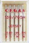 Иглы д/бытовых швейных машин ОРГАН,джерси,ассорти,№70-100,уп.5 игл