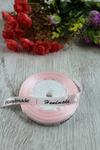 """Атласная лента """"Handmade"""" 1,2 см (светло-розовый №77) Арт. 132-29"""