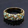 Кольцо японский опал косичка Размер 16 Артикул:2318303 -16