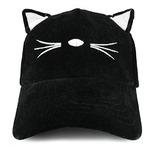 бейсболка Costume Cat Ear and Whisker Velvet Structured Baseball Cap