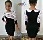Платье с атласом
