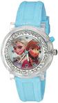 Disney Kids' FZN3564 Frozen Anna & Elsa Flashing Blue Watch