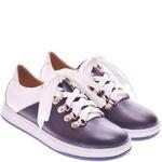 Подростковые кожаные туфли на шнуровке