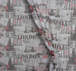 Вуаль печать улицы Лондона Артикул: 221/823-3