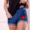 Шорты джинсовые с нашивкой роза