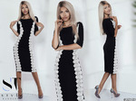 Шикарнейшее платье черно-белой гаммы
