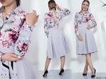Оригинальная модная модель платья подойдет деловой леди для ежедневного пребывания в офисе и встреч с деловыми партнерами.