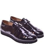 Подростковые лаковые туфли на липучке