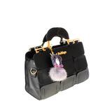 Стильная женская сумочка Meige из эко-кожи черного цвета.