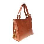 Стильная женская сумочка Welros из эко-кожи рыжего цвета.