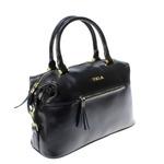 Стильная женская сумочка Forsa_Eline из натуральной кожи черного цвета.