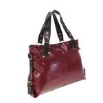 Стильная женская сумочка Loreine из эко-кожи цвета спелой вишни.