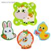 Набор игрушек для ванны «Домашние животные»: наклейки из EVA, 3 шт. + мини-коврик на присосках