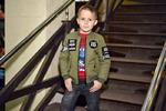Демисезонная куртка-бомбер для мальчика темной-синий, оливка размеры 32-46