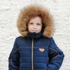 Зимняя куртка для мальчика на овчине с натуральной опушкой