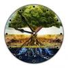 Часы настенные Дерево Жизни 20см, пластик