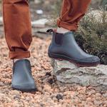 Резиновые мужские ботинки Nordman Beat коричневые с оранжевой подошвой