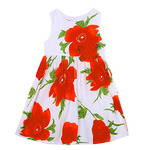 Gogolan Little Girl Summer Sleeveless Floral Printed Party Dress