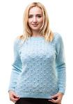 08081м Джемпер женский (голубой) оптом