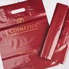 Пакет из ПВД бордовый с печатью лого LCosmetics