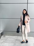 Удлинённое пальто пиджачного типа на пуговице и кнопках