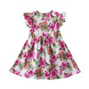 Goodtrade8® Toddler Little Girl Ruffle Sleeveless Princess Dress Floral Printed Summer Casual Holiday Sundress