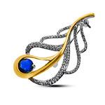 Серебряная брошь Артикул: 08fyx0183cgp-113