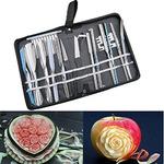 Agile-Shop Culinary Carving Tool Set Fruit Vegetable Food Garnishing/Cutting/Slicing Garnish Tools Kit (20 pcs)