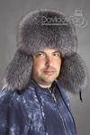 шапка мужская Пилот блюфрост натурал кожзам