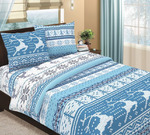 Постельное белье Аляска голубая (бязь)