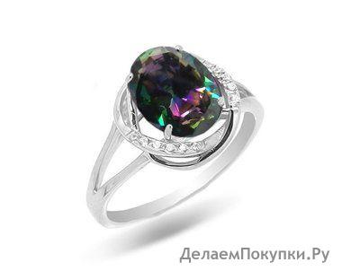 Кольцо, мистик кварц, МПВ958
