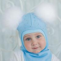 Шлем трикотажный, зима