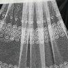 Микро сетка с вышивкой (белый, крем, золото) 280 см