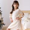 Детское платье-трапеция с золотистой нитью