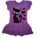 Платье Кошка Сиреневый